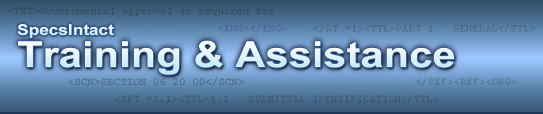 SpecsIntact Training and Assistance Header